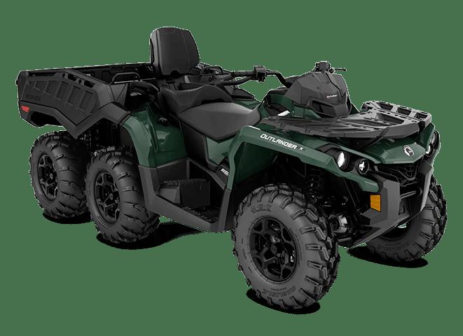Квадроцикл 2021 Can-Am Outlander MAX 6x6 DPS 650 Tundra Green Зелений
