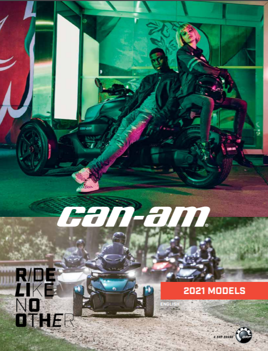 Каталог аксесуарів Can-Am On-Road Spyder Ryker 2021