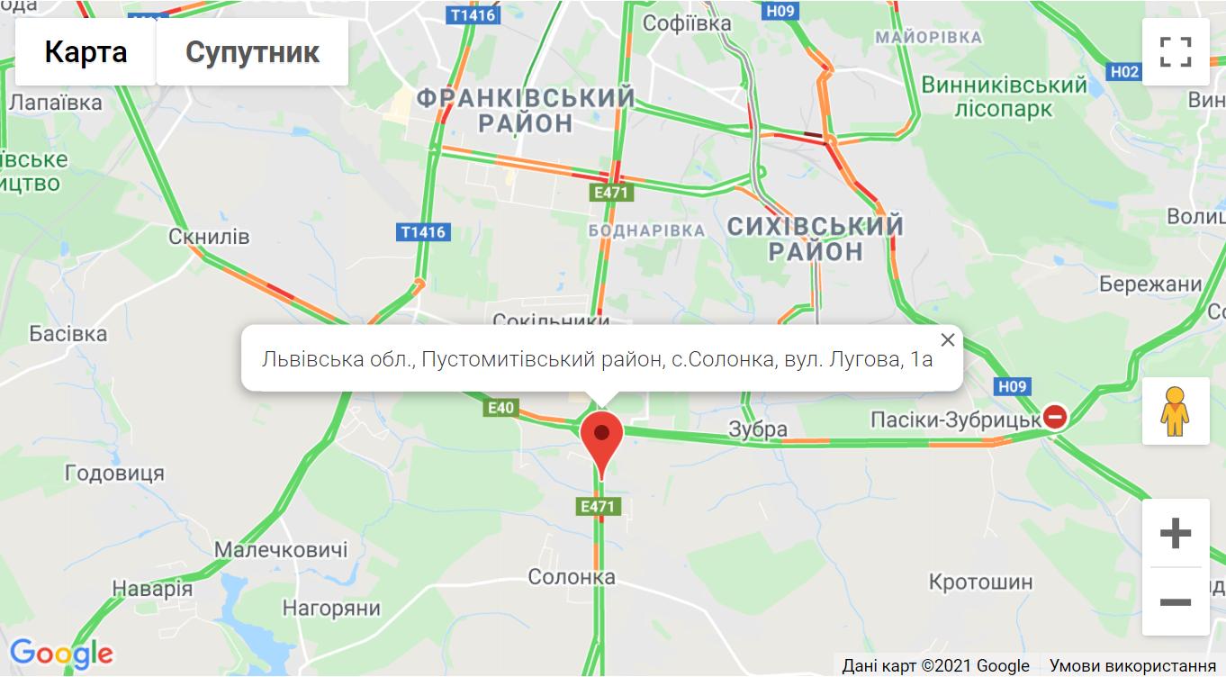 BRP Львів - Карти Google