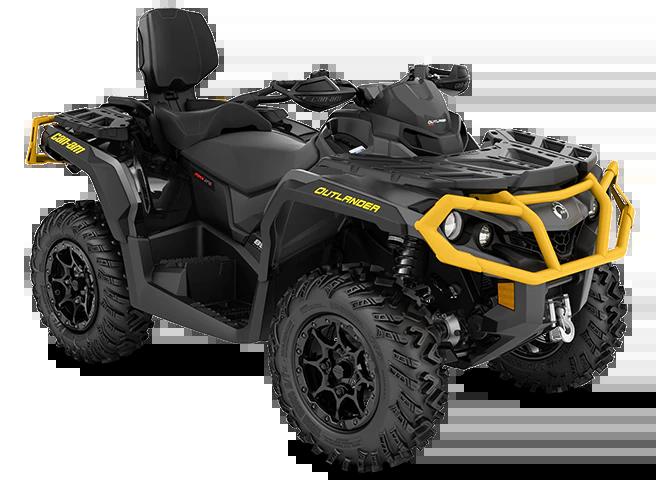 Квадроцикл CAN-AM ATV MY22 Outlander MAX-XTP-850-Iron-Gray-Neo-Yellow