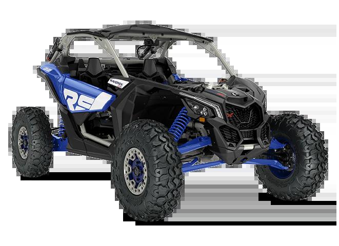 Мотовсюдихід CAN-AM SSV MY22 MaverickX3 XRSSAS-TurboRR-Intense-Blue-Carbon-Black-Chalk-Grey